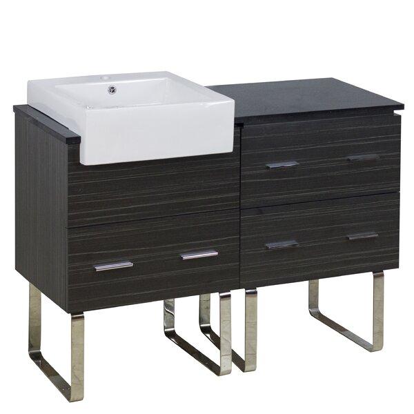 Xena Farmhouse Plywood Melamine 46 Single Bathroom Vanity Base By American  Imaginations.