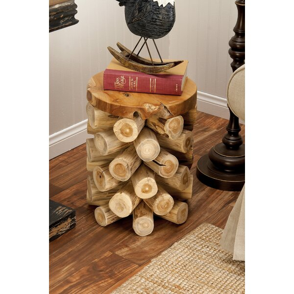Teak Wood Log Stool by Cole & Grey