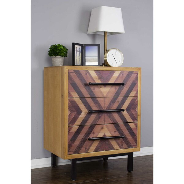 Alecsandru 3 Drawer Accent Chest