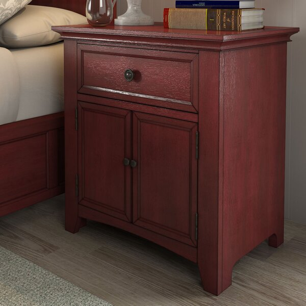 Sefton 1 Drawer Nightstand by Three Posts