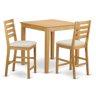 3 Piece Counter Height Pub Table Set By Wooden Importers #2