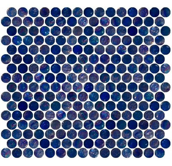 0.75 x 0.75 Glass Mosaic Tile in High-Gloss Blue by Susan Jablon