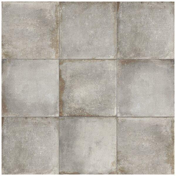 Relic 8.75 x 8.75 Porcelain Field Tile in Grigio by EliteTile