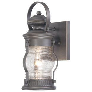 Reviews Saint Georges 1-Light Outdoor Wall Lantern By Breakwater Bay