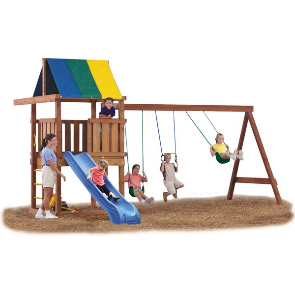 Wrangler Deluxe Swing Set Hardware Kit with Slide (Wood Not Included) by Swing-n-Slide