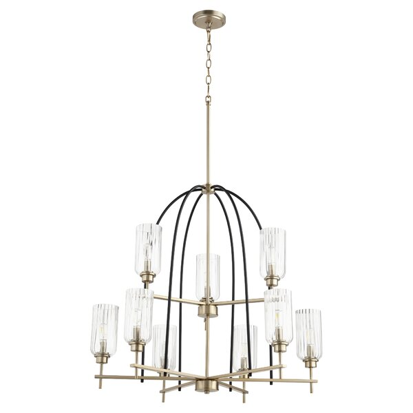 Sebbie 9 - Light Candle Style Classic Chandelier By Everly Quinn
