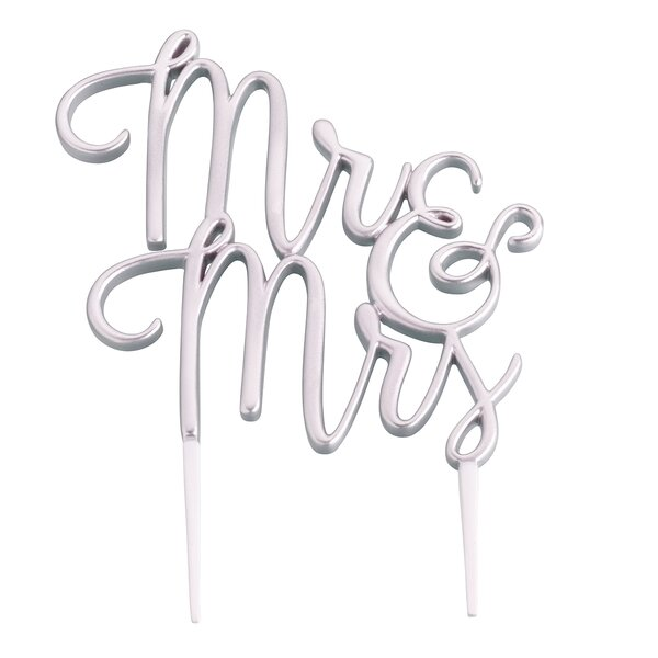 Mr. and Mrs. Wedding Cake Topper by Lillian Rose