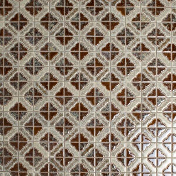 Castle Random Sized Porcelain Mosaic Tile in Henna by EliteTile