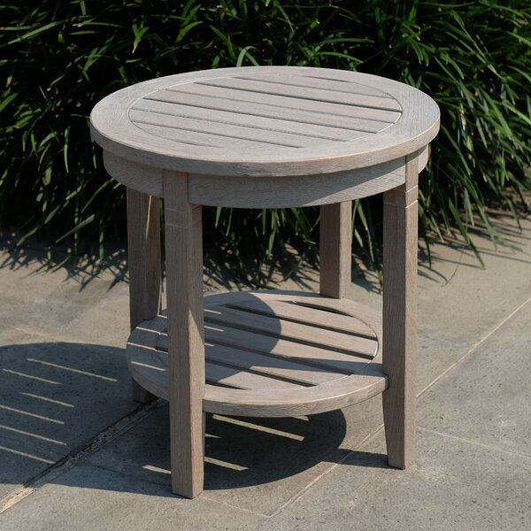 Sheffield Teak Round Side Table by Bayou Breeze