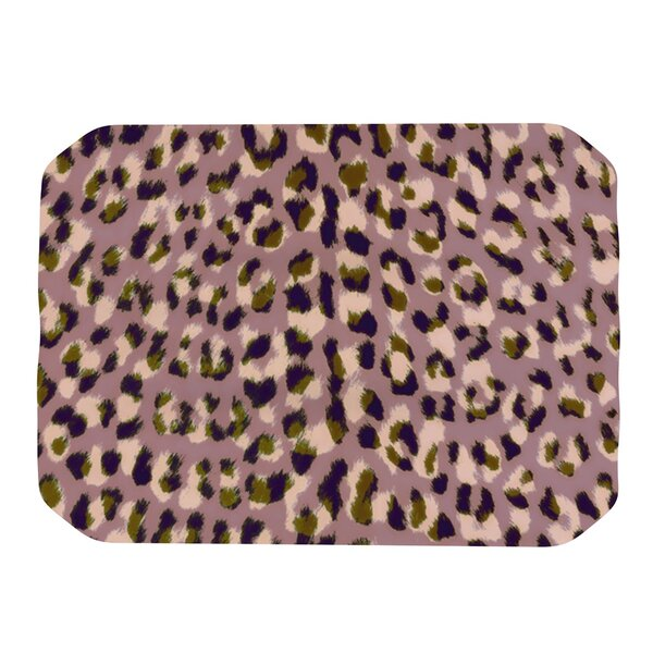 Leopard Print Placemat by KESS InHouse