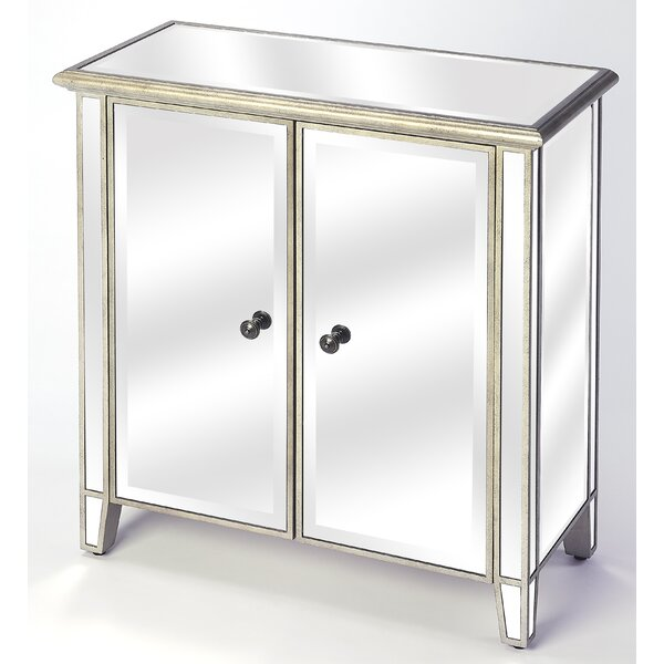Dodd 2 Door Mirrored Accent Cabinet by Rosdorf Park Rosdorf Park