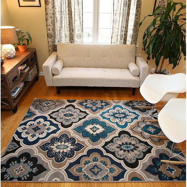 Mcelrath Blue/Brown Area Rug by Winston Porter