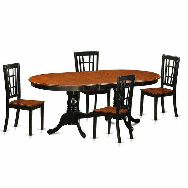 Pilcher Contemporary 5 Piece Dining Set by August Grove