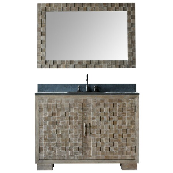 Claris 48 Single Bathroom Vanity Set with Mirror by Bungalow Rose