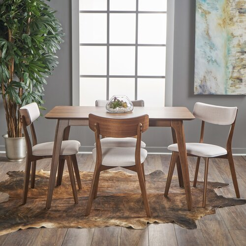 Andrew Dining Set with 4 Chairs Langely Street Upholstery