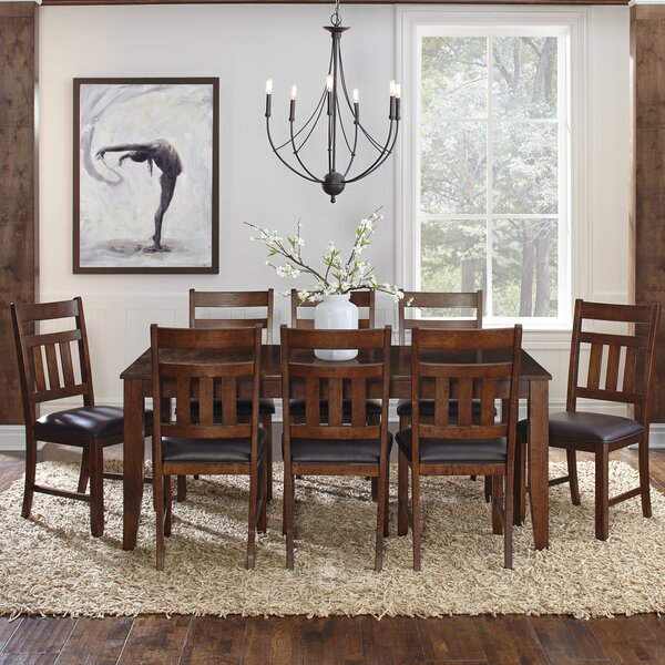 Caracara 9 Piece Extendable Solid Wood Dining Set by Trent Austin Design