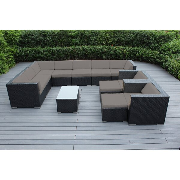 Konieczny 12 Piece Sunbrella Sectional Seating Group with Cushions by Bayou Breeze