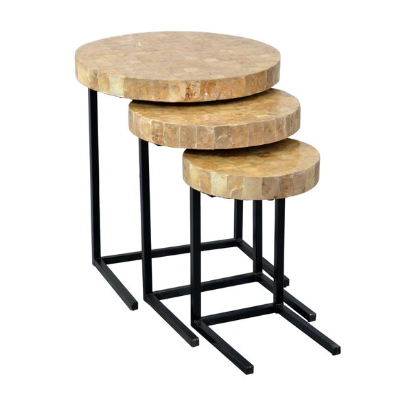 Dalvey 3 Piece Nesting Tables by Beachcrest Home