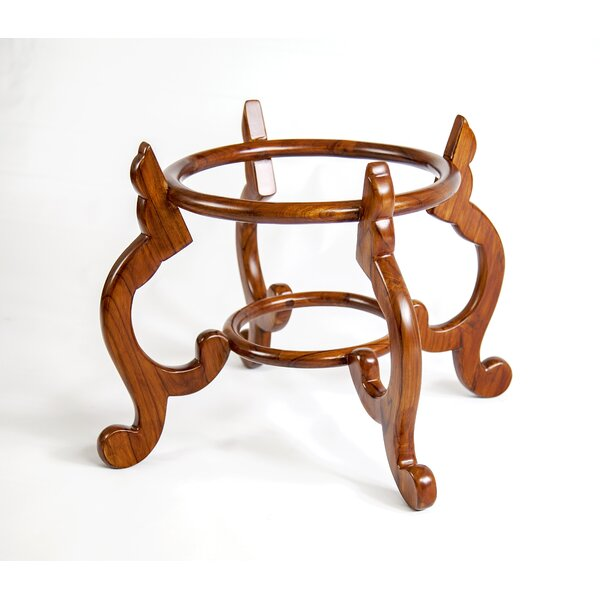 Classic Round Cabriole Plant Stand by The Silver Teak