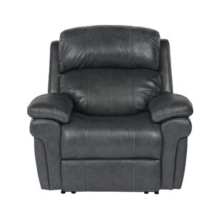 Dipaolo Luxe Leather Power Reclining Chair Red Barrel Studio