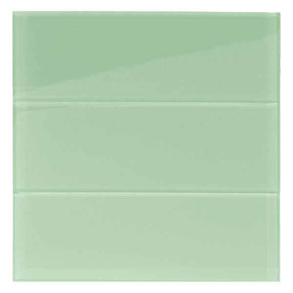Xenon 4 x 12 Glass Mosaic Tile in Surf by CNK Tile