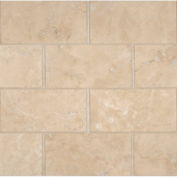 3'' x 6'' Travertine Subway Tile in Honed Beige by MSI