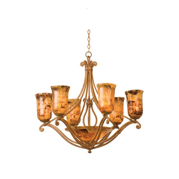 Somerset 8 - Light Shaded Classic / Traditional Chandelier By Kalco