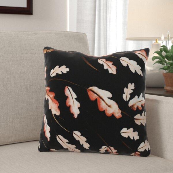 Lanz Wild Oak Branch Floral Throw Pillow by Winston Porter