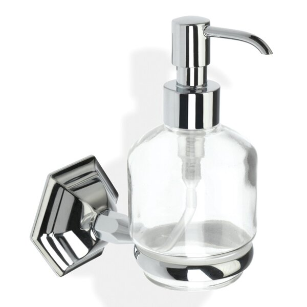 Marte Contemporary Free Standing Crystal Glass Liquid Soap Dispenser by Stilhaus by Nameeks