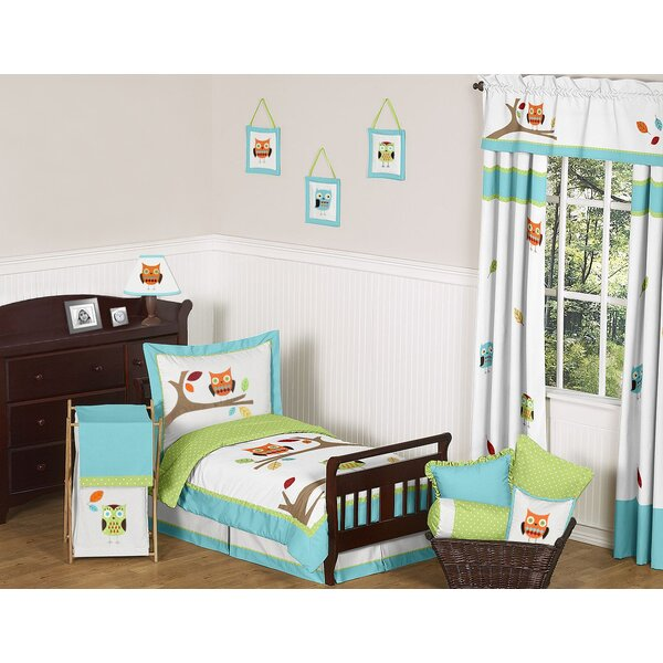 Hooty Toddler Bed Skirt by Sweet Jojo Designs
