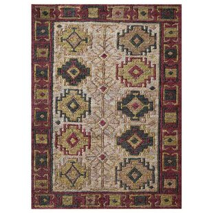 St Catherine Hand-Knotted Beige/Red/Green Indoor/Outdoor Area Rug By Millwood Pines