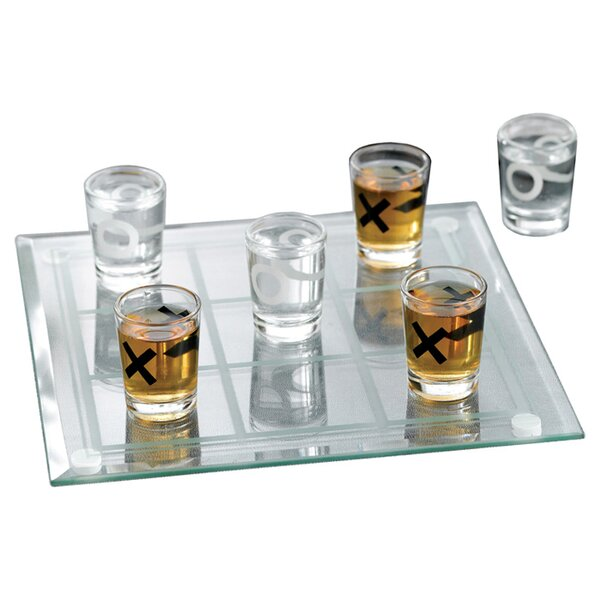Veliz 10 Piece Tic-Tac-Toe Shot Glass Set by Wrought Studio