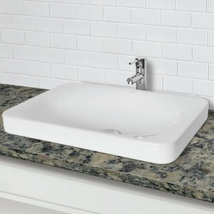 Price comparison Hazel Classically Redefined Vitreous China Rectangular Vessel Bathroom Sink By DECOLAV
