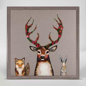 'Fox, Buck and Hare' Print by GreenBox Art
