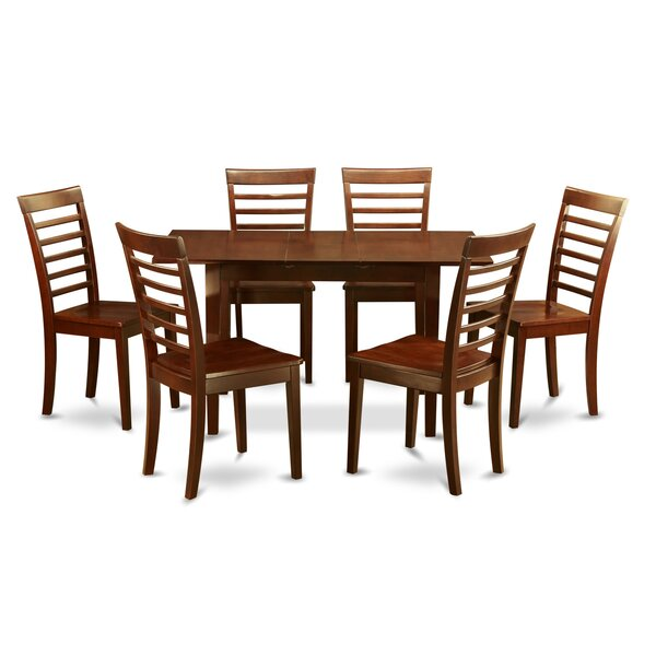 Balfor 7 Piece Extendable Breakfast Nook Solid Wood Dining Set by Andover Mills Andover Mills