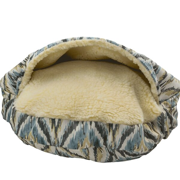Snow Dog Orthopedic Premium Cozy Cave Hooded Dog Bed with Sherpa Interior by Snoozer Pet Products
