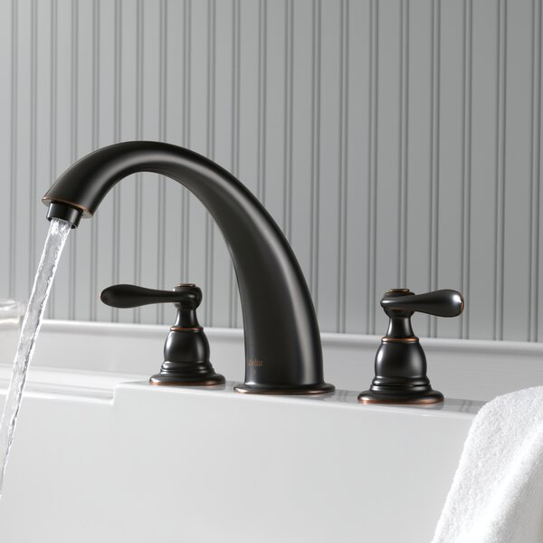 Windemere Double Handle Deck Mount Roman Tub Faucet Trim By Delta.