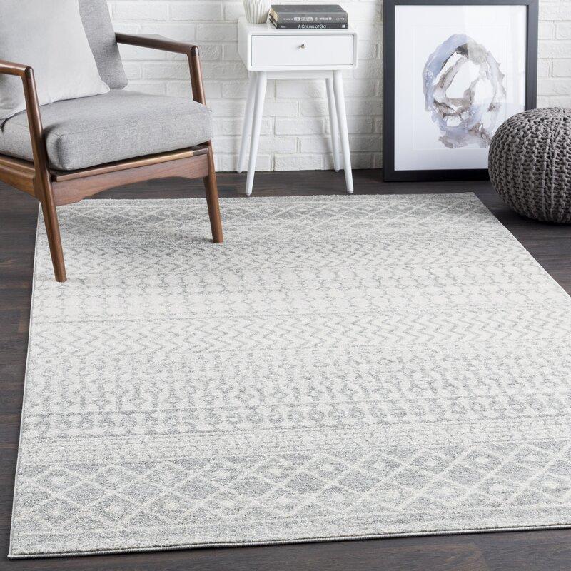 Gray White Area Rug Reviews Wayfair