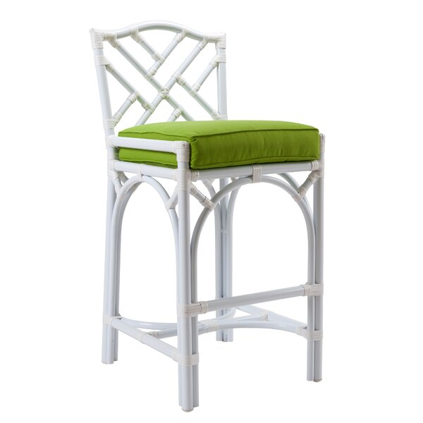 Chippendale 27 Patio Bar Stool with Cushion by David Francis Furniture