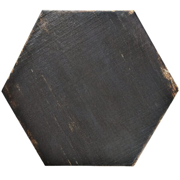 Rama Hexagon 14.13 x 16.25 Porcelain Mosaic Tile in Black by EliteTile