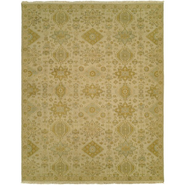 Faiyaz Wool Gold/Beige Area Rug by Darby Home Co