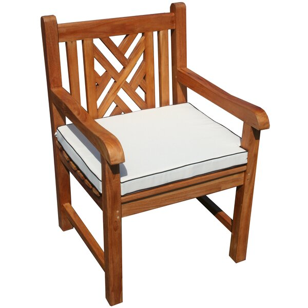 Chippendale Indoor/Outdoor Dining Chair Cushion by Chic Teak
