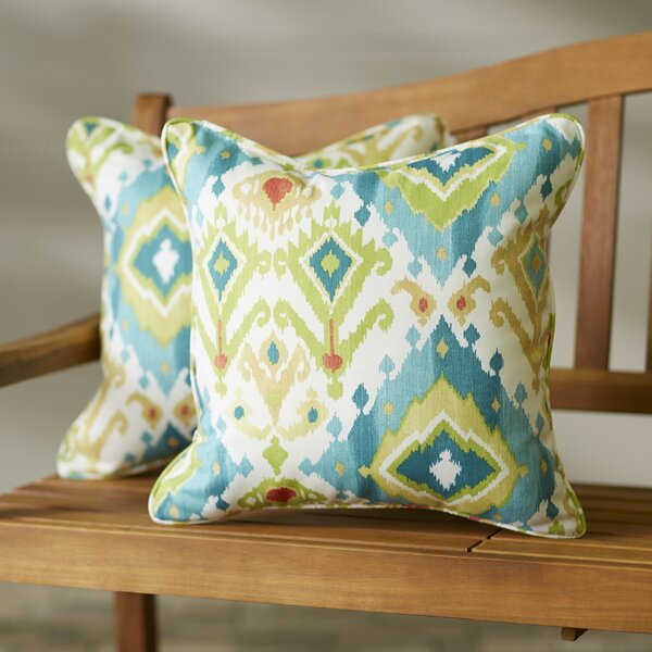 Pineville Square Indoor/Outdoor Throw Pillow (Set of 2) by Bungalow Rose