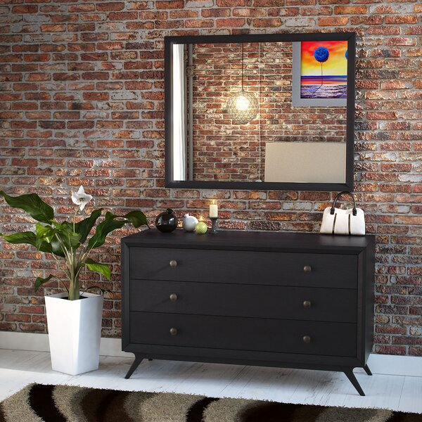 Arabella 3 Drawer Dresser with Mirror by Foundstone