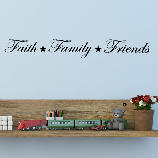 Faith, Family, Friends Wall Decal by Decal the Walls
