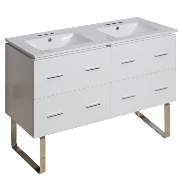 Hinerman 48 Double Bathroom Vanity Set