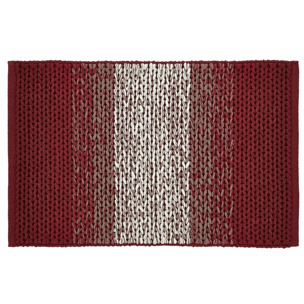 Ashli Hand-Woven Burgundy Area Rug by August Grove