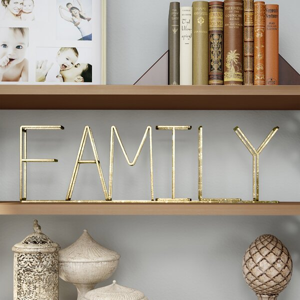 Menefee Family Free-Standing Decorative Table Top Sign by Winston Porter