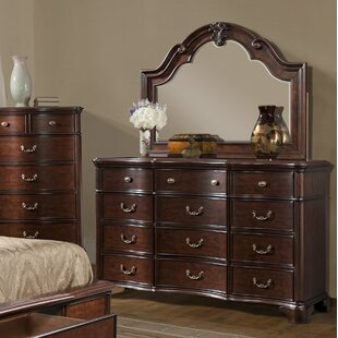 Alanya 12 Drawer Dresser With Mirror