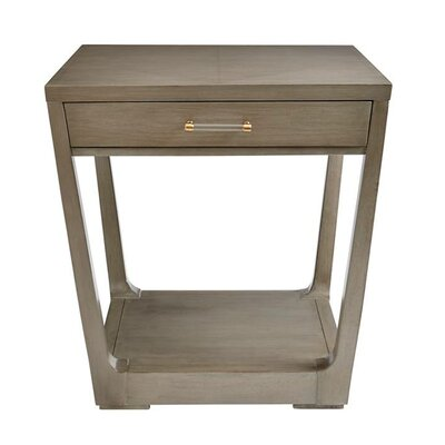 Floor Shelf End Table Storage Oyster Pearl img